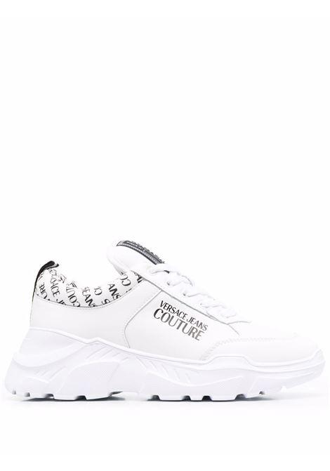 White logo-print chunky sneakers - men  VERSACE JEANS COUTURE | 71YA3SC1ZP020003