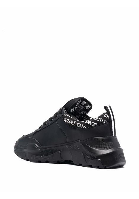 Black logo-print chunky sneakers - men  VERSACE JEANS COUTURE | 71YA3SC1ZP020899