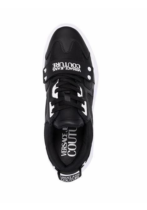 Black logo-print chunky sneakers - men  VERSACE JEANS COUTURE | 71YA3SC471604899