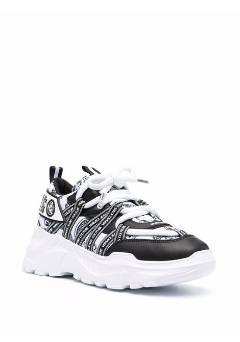 Black and white Speedtrack Regalia sneakers - men  VERSACE JEANS COUTURE | 71YA3SC5ZS053L02