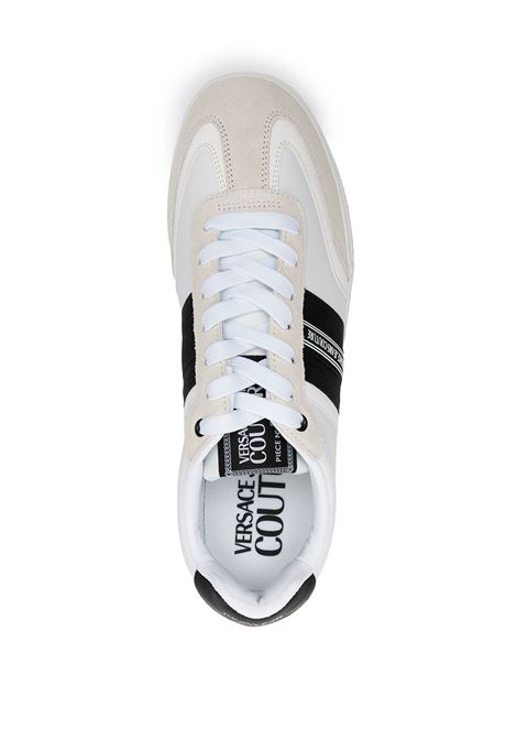 White Spinner low-top lace-up sneakers - men  VERSACE JEANS COUTURE | 71YA3SO1ZS093003