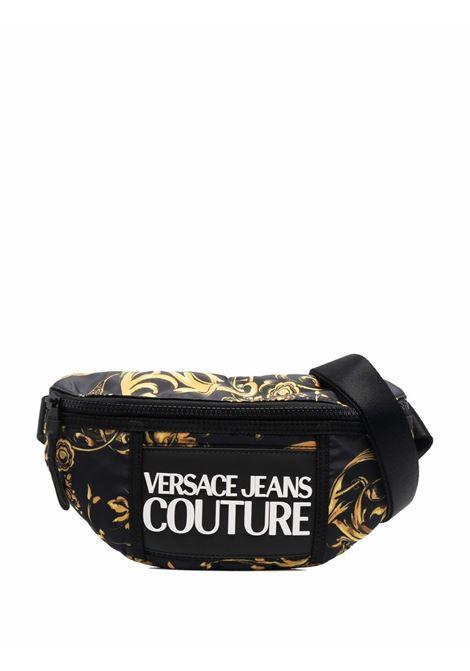 Black baroque-print belt bag - men  VERSACE JEANS COUTURE | 71YA4B95ZS109G89