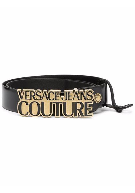 Black logo-plaque belt - men  VERSACE JEANS COUTURE | 71YA6F04ZP059G89