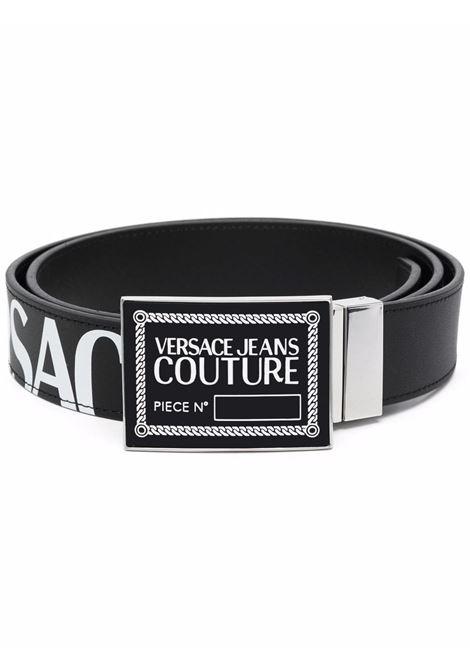 Black logo-plaque belt - men  VERSACE JEANS COUTURE | 71YA6F21ZP061899