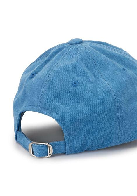 Cappello da baseball con ricamo in blu - Uomo WE11DONE | WDAH320725BL