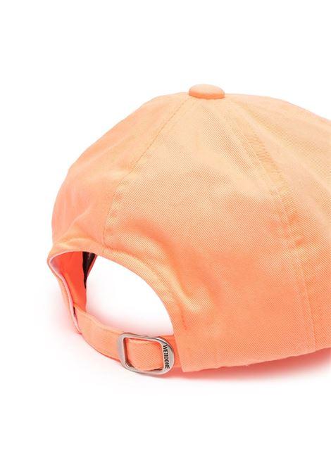 Cappello da baseball con logo in arancione - Uomo WE11DONE | WDAH420025NO