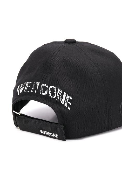 Cappello da baseball con logo in nero - Uomo WE11DONE | WDAH620078BK