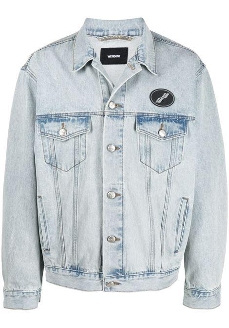 Button-up denim jacket in ice blue - men WE11DONE   WDDJ420017IC