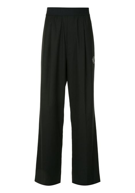 Pantaloni a gamba ampia in nero - donna WE11DONE   WDPT420729BK