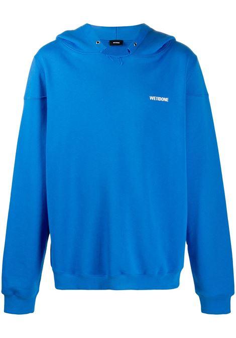 Drop shoulder sweatshirt in blue - men WE11DONE   WDTP220717BL