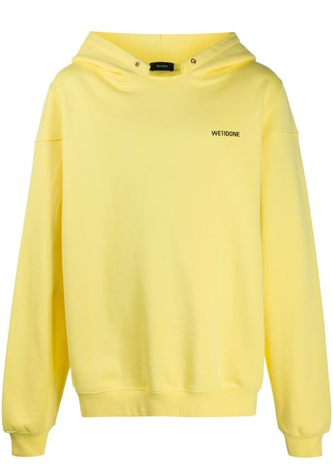 Long-sleeved sweatshirt in yellow - unisex WE11DONE   WDTP220717YE