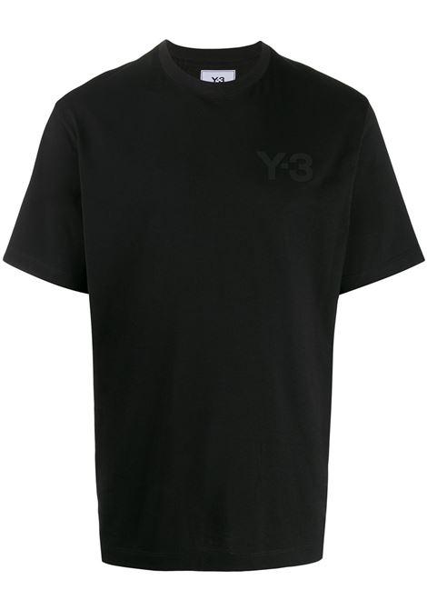 T-shirt classica con logo in nero - uomo Y-3 | FN3358BLK