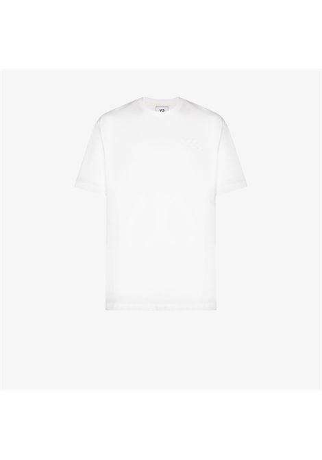T-shirt classica con logo in bianco - uomo Y-3 | FN3359WHT
