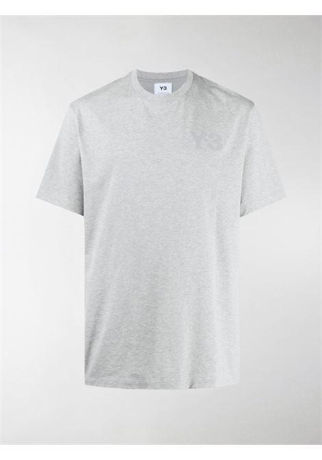 T-shirt classica con logo in grigio - uomo Y-3 | GK4505MDMGRY