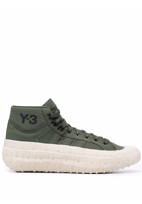 Sneakers con punta a contrasto in verde khaki - uomo Y-3 | GZ9151GRNBRWNBLK
