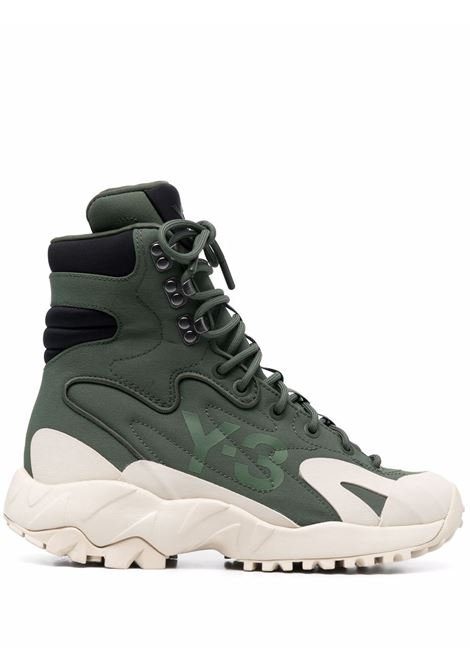 Sneakers alte notoma in verde - uomo Y-3 | GZ9164GRNBRWNBLK