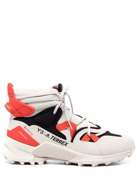 Terrex swift r3 gtx high-top sneakers in off white, black and orange - men Y-3 | GZ9166BRWNBLKORNG