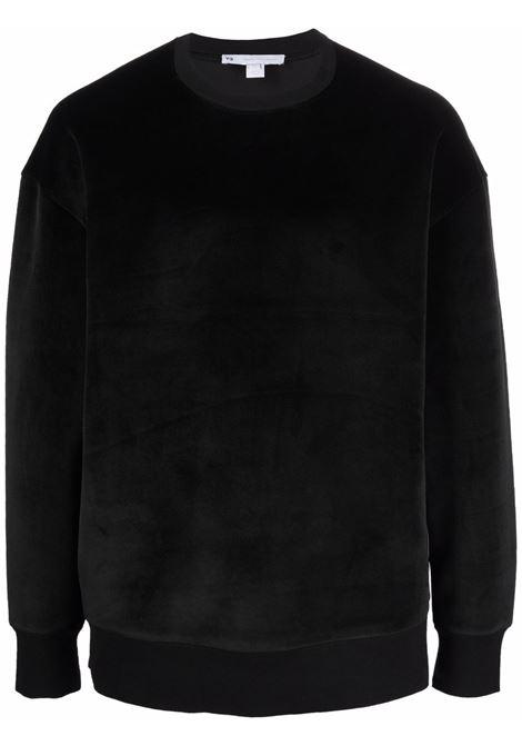 Felpa con logo in nero - uomo Y-3 | HB3339BLK