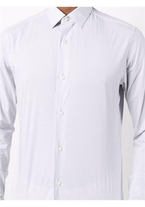 Botton-up shirt in light grey and white - men  Z ZEGNA | 205051ZCSS1BNCGRG