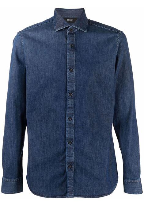 Camicia denim in blu - uomo Z ZEGNA | 205307ZCSF2402