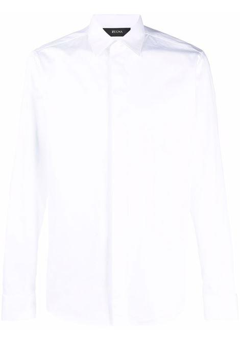 Camicia aderente in bianco - uomo Z ZEGNA | 205903ZCSC7100