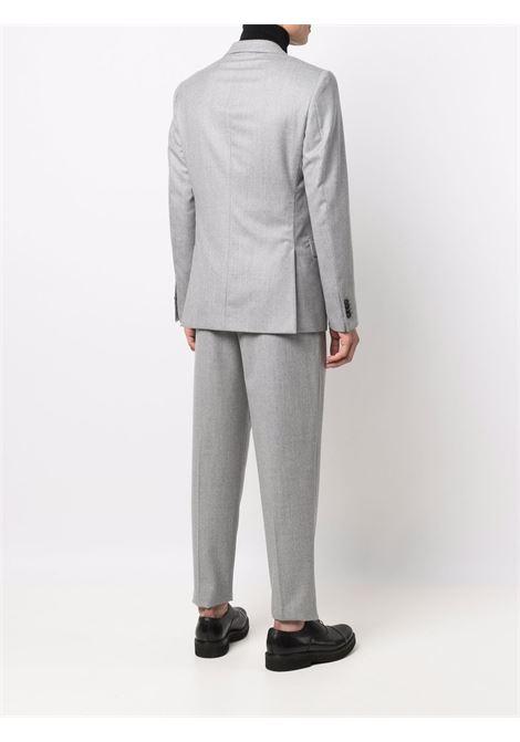 Light grey single-breasted wool suit - men  Z ZEGNA | 230778283DG5042