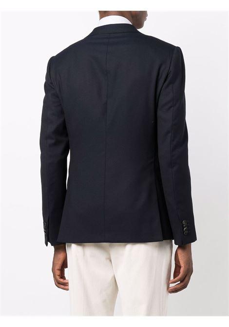 Dark blue tailored single-breasted blazer - men  Z ZEGNA | 254757181CG0412