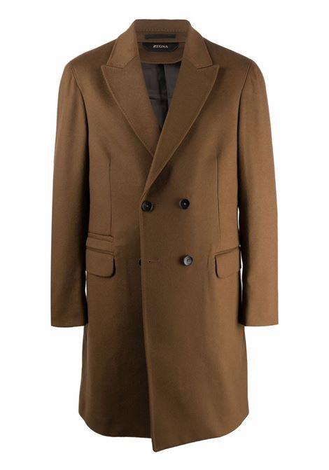 Cappotto doppiopetto in marrone - uomo Z ZEGNA | 2897024DG4G0212