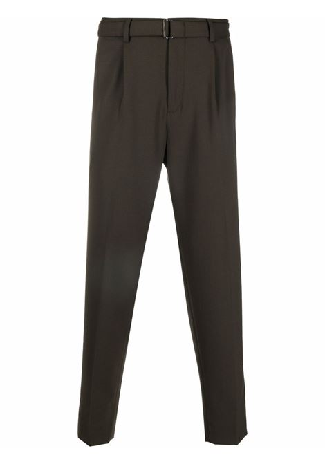 Khaki-green high-waisted straight-leg trousers - men  Z ZEGNA | 2ZF0167ANEC2302