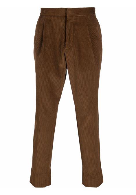 Tan brown corduroy straight-leg trousers - men  Z ZEGNA | 2ZF05673N7C2212