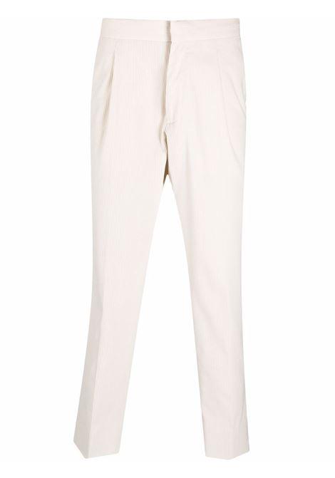 Ivory corduroy straight-leg trousers - men  Z ZEGNA | 2ZF06573N7C2100