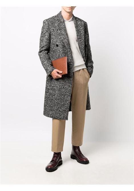 Ivory ribbed-collar jumper - men  ERMENEGILDO ZEGNA | UYK68114190