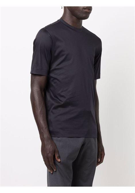 T-shirt a girocollo in blu - uomo Z ZEGNA | VY348ZZ641B09