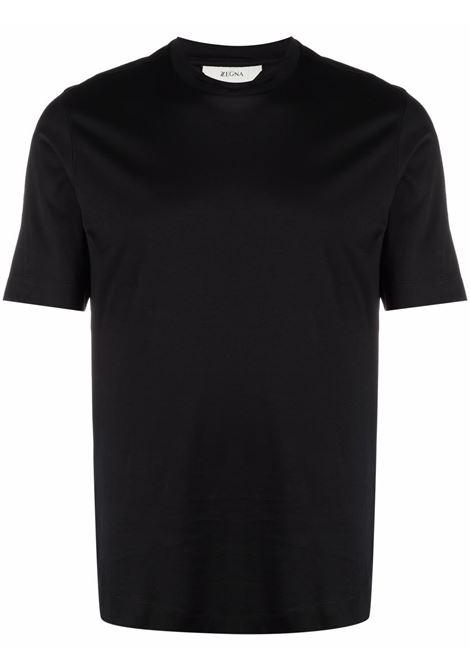 T-shirt a girocollo in nero - uomo Z ZEGNA | VY348ZZ641K09