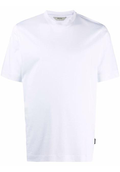 T-shirt a girocollo in bianco - uomo Z ZEGNA | VY348ZZ641N00