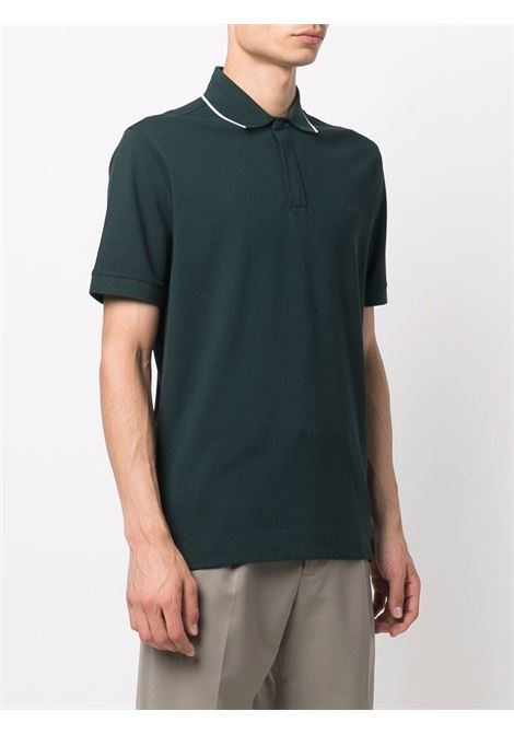 Forest-green and white logo-embroidered polo shirt - men  Z ZEGNA | VY360ZZ601T08