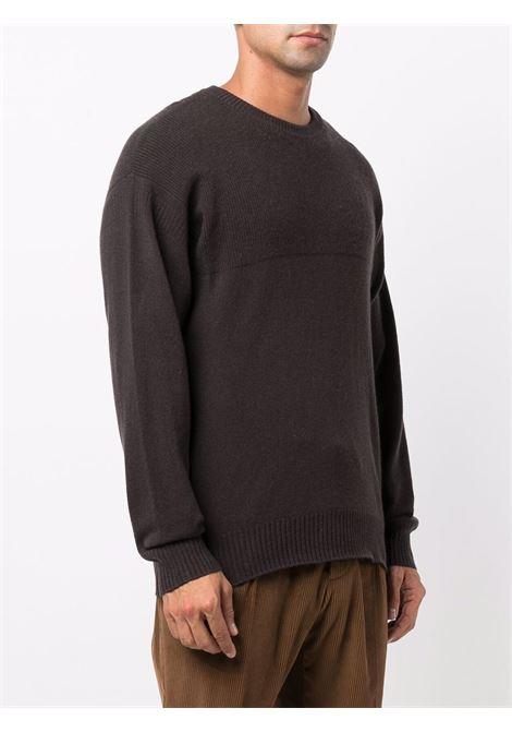 Grey ribbed-knit crewneck jumper - men  Z ZEGNA | VYH12ZZ110M09