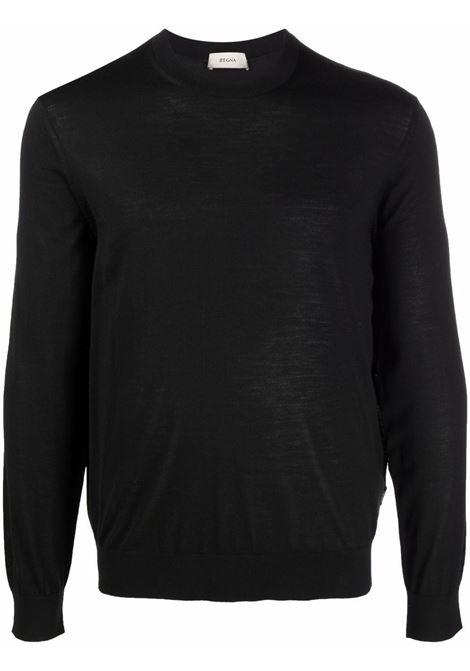 Maglione a girocollo in nero - uomo Z ZEGNA | VYM96ZZ110K09