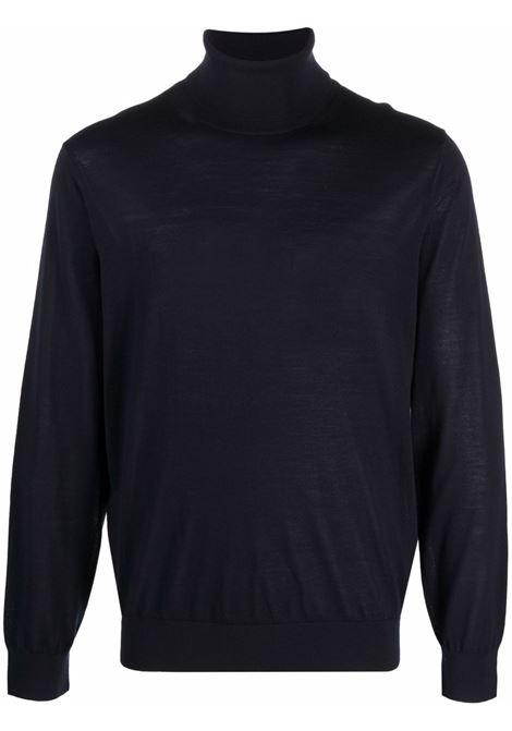 Maglione a collo alto in blu -uomo Z ZEGNA | VYM96ZZ120B09