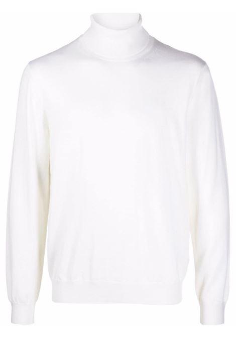 Fine-knit rollneck knitted jumper in white - men  Z ZEGNA | VYM97ZZ120N01