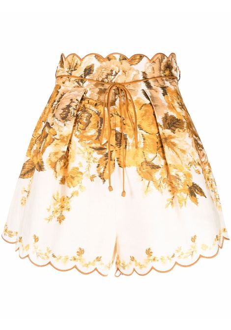 Pantaloncino a fiori donna ZIMMERMANN | Shorts | 1415AALIAMFL