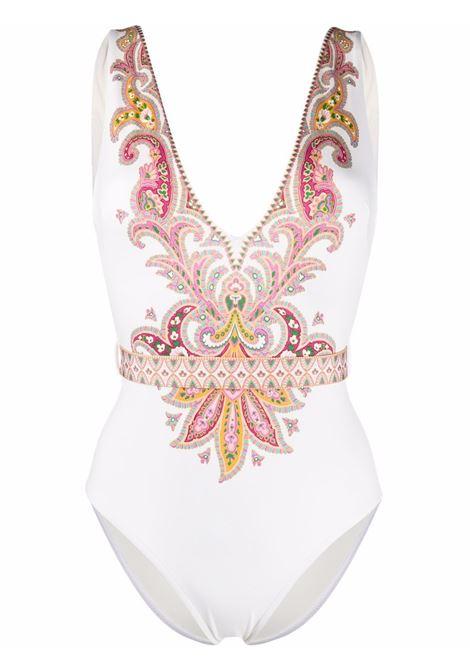Belted swimsuit paisley white- women ZIMMERMANN | 1524WTEDIVOP