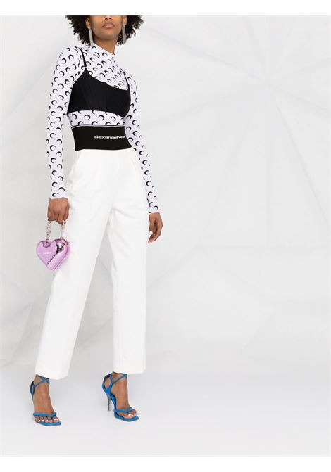 Logo waistband trousers white - women ALEXANDER WANG | 1WC2214345110