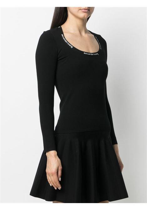 Top a maniche lunghe con logo in nero - donna ALEXANDER WANG | 4KC1211024001