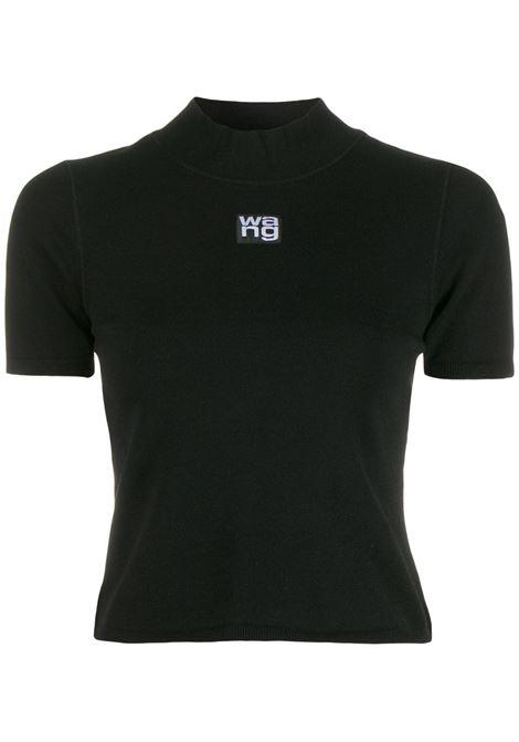Black high neck logo top - women  ALEXANDER WANG | 4KC2191008001