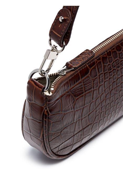 Rachel bag with croc effect in brown - women  BY FAR | 18FWRCLSNEDMEDNTLL