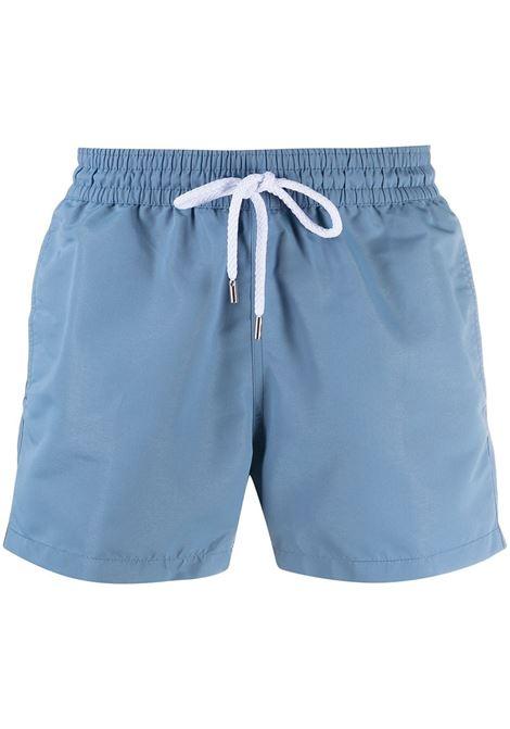 Sport drawstring swim shorts in slate blue - men FRESCOBOL CARIOCA | 110856