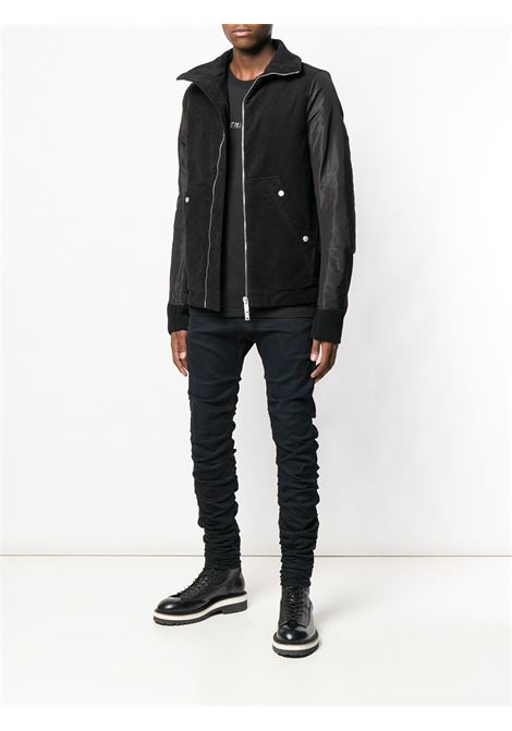 Black wrinkled effect skinny jeans - men  R13 | R13M032073150