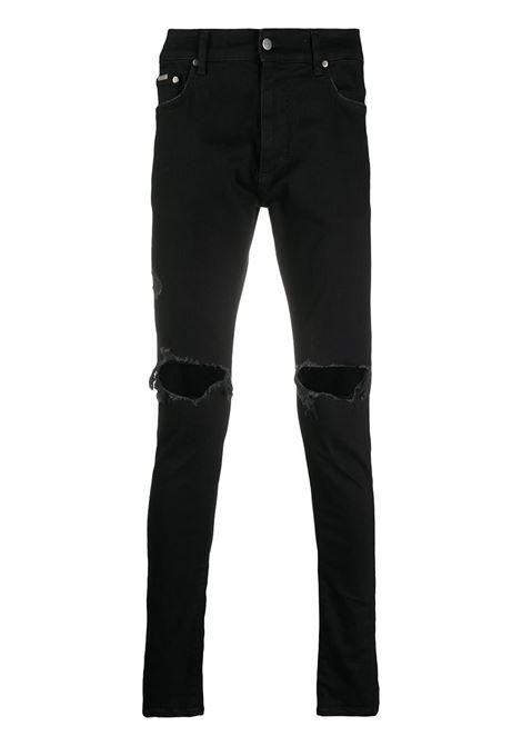 Ripped-detailing skinny jeans in black - men  REPRESENT | M0704401
