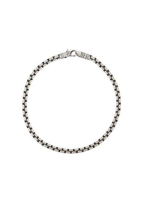 Chain link bracelet in silver-tone - men TOM WOOD | B51232BSM01S925